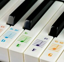 More details for color piano stickers for 88 76 61 54 49 37 key keyboards great visual tool for
