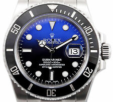 Rolex Submariner 116610 Ceramic Stainless Steel with Custom Deep Blue Dial 40mm