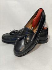 Johnston & Murphy Men Moc Toe Tassel Loafers Size US 9M D13 Black Sheep Leather