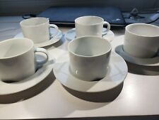 CRATE & BARREL MAISON 8 OZ COFFEE/TEA CUP SET OF FIVE