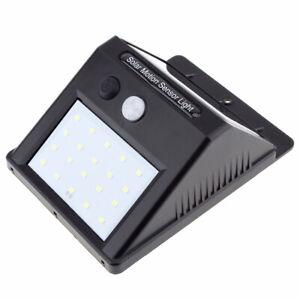 Waterproof Lamp 20 LED Light Solar Power PIR Motion Sensor Wall  Outdoor Garden