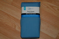 New - Mainstays Flat Sheet - Twin size - Blue Eyes- 200 thread count