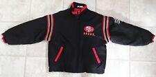 Vint  90s San Francisco SF 49ers Windbreaker Puffy Warm Stadium Jacket Mens L/XL