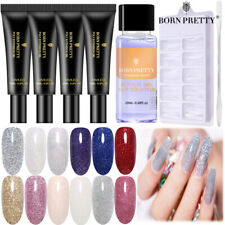 BORN PRETTY Quick Extension Builder Poly UV Nail Gel Polish Slip Solution Set
