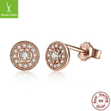 2016 Hot Authentic S925 Sterling Radiant Elegance, 14K Gold & Clear CZ Earrings