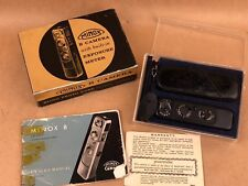Minox B Black camera set # 824552 w/ case, chain & Box - Rare Spy Sub-miniature