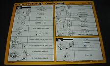 Inspektionsblatt Toyota Corolla Diesel CE 100 Werkstatt Service Stand 05/1992