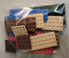 LEGO Lot of 17 Assorted Colors Blue Red Brown Gray Flat Building Plate Pieces