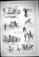 Old Theatre Critic Music 1887 Middlesex Yeomanry Sport Richmond Park Victorian