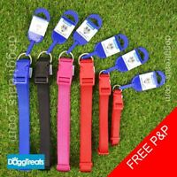 Adjustable Dog Collar Ancol Heritage - Blue Black Red Pink Small Medium Large