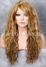 Blonde Tangerine mix HEAT SAFE Spanish Wavy light Weight Wig Layers HDF 2216