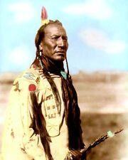 "BIG MOUTH SPRING BLACKFEET NATIVE AMERICAN 1910 8X10"" HAND COLOR TINTED PHOTO"