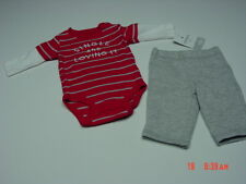 NWT Infant Boys 2 Piece Set Carter's Creeper Pants Single and Loving It