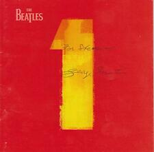 SIGNED GEORGE MARTIN CD INSERT - THE BEATLES #1 HITS