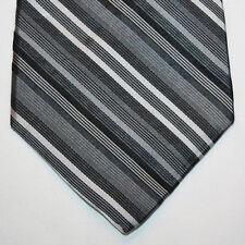 NEW Arrow Silk Neck Tie Black Gray and Silver Stripes 991