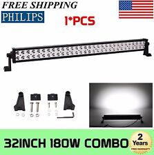 32 Inch 180W Philips LED Light Bar Work Combo Jeep Lamp Boat Driving Offroad 30
