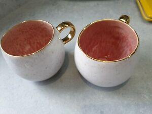 Two Perasima Mugs, Used,pink, Anthropologie