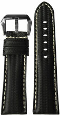 22mm RIOS1931 for Panatime Black Carbon Fiber Synthetic Watch Strap For Panerai