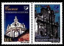 ECUADOR 2001 TEMA AMERICA UPAEP Patrimonio Cultural. 2v.