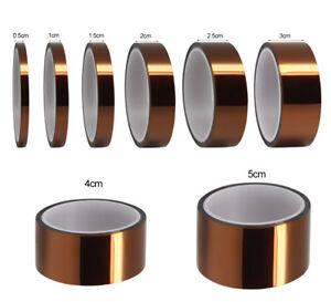 30M Heat Resistant High Temperature Polyimide Film Kapton Tape Hot Self Adhesive