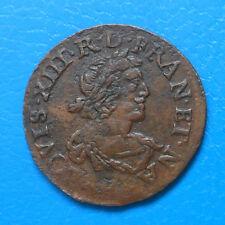 Louis XIII 1610-1643 double tournois 1639 E Tours CGKL 476B