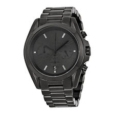New MICHAEL KORS Bradshaw Chronograph Black Dial Ion-Plated Unisex Watch MK5550