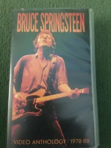 Preowned VHS Video Tape Bruce Springsteen Video Anthology 1978 - 88 FREE P&P