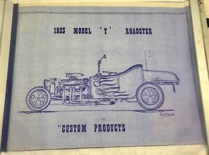 1923 Model T Roadster Blueprints Plans Build your Own Street Rod Custom Product
