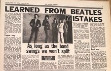 ROLLING STONES learned from Beatles 1970 UK ARTICLE / clipping