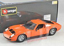 NEW 1/18 Bburago 18-12072OR Lamborghini Miura, 1968, orange