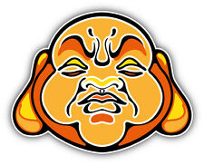 "Angry Buddha Face Car Bumper Sticker Decal 5"" x 4"""