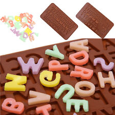 Letter Alphabet Silicone Cake Topper Mould Chocolate Fondant Cookies Ice Mold TO