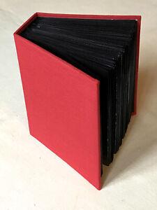 Red Canvas Photo Album, Holds 100 Photos, 4 x 6inch (10 x 15cm) Photos.