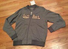New Men's Vantage Gray Medium FULL ZIP PULLOVER Sweatshirt South Beach Miami NWT