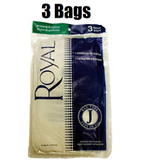(3) Royal Type J Vacuum Bags, 400-401, 404-405 Tank  3040447001 GENUINE