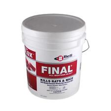 Final Blox Rodenticide 18Lb Pail Kills Rats Mice Voles Rat Bait Mouse Vole Bait