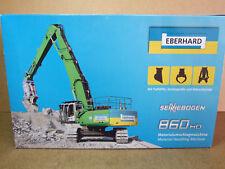 NZG SENNEBOGEN 860 HD Hydraulikbagger ** EBERHARD ** Neu & Ovp. !!