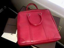 Auth. LOUIS VUITTON RED EPI PORTE-DOCUMENTS VOYAGE ladies bag
