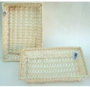 "WHOLE SALE.JOB LOT. Wicker 8"" (20cm) Rectangular Baskets/Trays-Pack of 15"