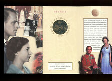 1997 Golden Wedding Crown Royal Mint £5 coin uncirculated in Royal Mint folder