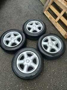 "Genuine VW Passat B4 15"" Alloy Wheels Rims 4x100 Lupo Polo Golf 3A0601025B"