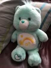 "Care Bear 13"" Glow in the Dark Wish Bear 2003"