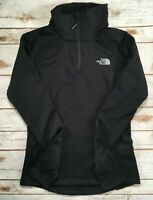 The North Face Jacket Borod 1/4 Zip Fleece Pullover Long Sleeve Grey Black XS L