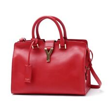 SAINT LAURENT YSL Women's Paris Small Red Cabas Handbag 311210 NWT