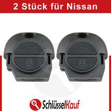 2 Stück NISSAN Autoschlüssel Gehäuse Almera Micra Primera Ersatz Fernbedieung