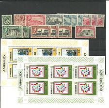 Gibraltar. Conjunto con 17 sellos nuevos y 2 Minipiegos