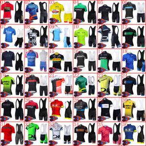 2021 Summer Team cycling short sleeve jersey bib shorts suit Mens bike uniform