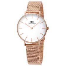 Daniel Wellington Women's Classic White/Rose Gold Face Petite Melrose Watch 32mm