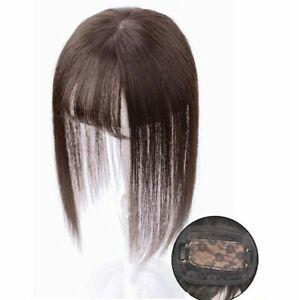 8 x11 cm Human Hair Topper Toupee Clip Mono Lace Hairpiece Top Wig For Women Men