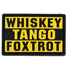 Whiskey Tango Foxtrot WTF PVC Morale Patch 3D Tactical Hook #23